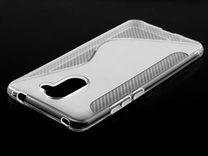 Wave Case for Huawei Y7 - Frosted Clear Soft Cover