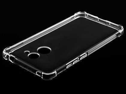 Gel Case with Bumper Edges for Huawei Y7 - Clear Soft Cover