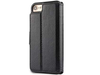 2-in-1 Synthetic Leather Wallet Case for iPhone 8/7 - Black Leather Wallet Case