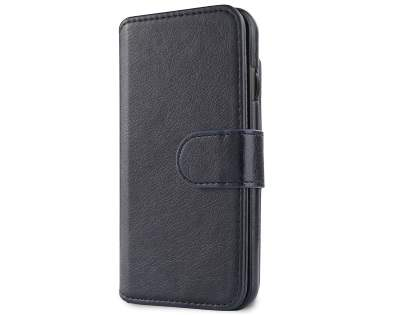 2-in-1 Synthetic Leather Wallet Case for iPhone 8/7 - Midnight Blue