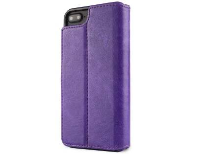 2-in-1 Synthetic Leather Wallet Case for iPhone 8 Plus/7 Plus - Purple Leather Wallet Case