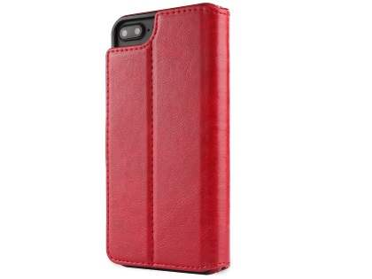 2-in-1 Synthetic Leather Wallet Case for iPhone 8 Plus/7 Plus - Red Leather Wallet Case