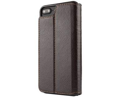2-in-1 Synthetic Leather Wallet Case for iPhone 8 Plus/7 Plus - Brown Leather Wallet Case