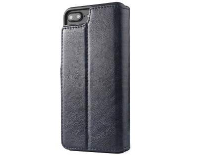 2-in-1 Synthetic Leather Wallet Case for iPhone 8 Plus/7 Plus - Midnight Blue Leather Wallet Case