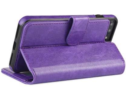 2-in-1 Synthetic Leather Wallet Case for iPhone 6s Plus/6 Plus - Purple