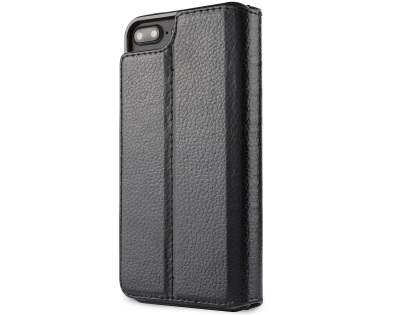 2-in-1 Synthetic Leather Wallet Case for iPhone 6s Plus/6 Plus - Black
