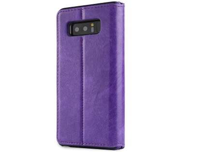 2-in-1 Synthetic Leather Wallet Case for Samsung Galaxy Note8 - Purple Leather Wallet Case