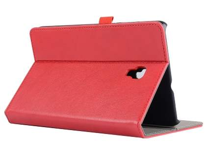 Synthetic Leather Flip Case with Stand for Samsung Galaxy Tab A 8.0 (2017) - Red