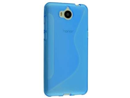 Wave Case for Huawei Y5 (2017) - Blue Soft Cover