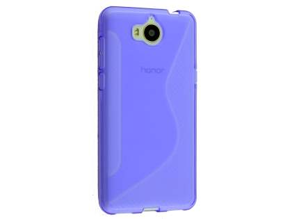 Wave Case for Huawei Y5 (2017) - Purple Soft Cover