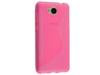Wave Case for Huawei Y5 (2017) - Pink Soft Cover