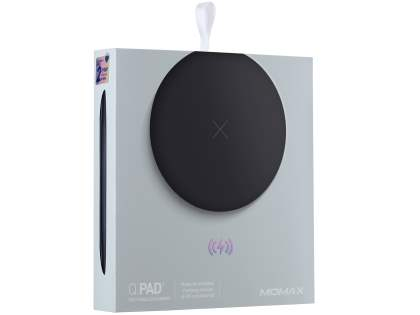ultra-slim MOMAX Q.Pad X Fast Wireless Charger - Black