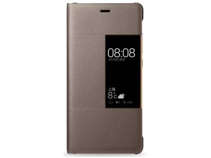 Official Huawei P9 Smart View Flip Case - Brown S View Cover