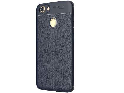 Leather Look Gel Case for Oppo A73 - Navy Soft Cover