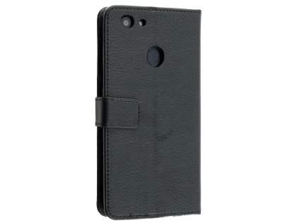 hot sale online 6743e ff47b Synthetic Leather Wallet Case with Stand for Oppo A73 - Black