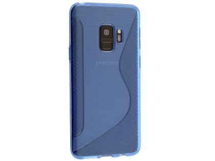 Wave Case for Samsung Galaxy S9 - Blue Soft Cover