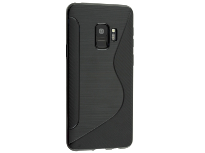 Wave Case for Samsung Galaxy S9 - Black Soft Cover