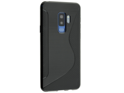 Wave Case for Samsung Galaxy S9+ - Black Soft Cover