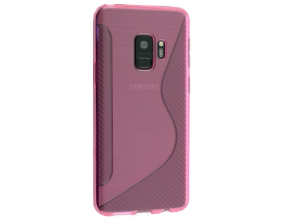Wave Case for Samsung Galaxy S9 - Pink Soft Cover