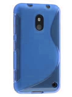 Wave Case for Nokia Lumia 620 - Frosted Blue/Blue Soft Cover