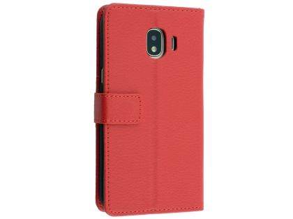 best service d4b1d 50c0b Synthetic Leather Wallet Case with Stand for Samsung Galaxy J2 Pro (2018) -  Red