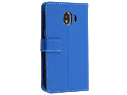 detailed look b109f dc70c Synthetic Leather Wallet Case with Stand for Samsung Galaxy J2 Pro (2018) -  Blue