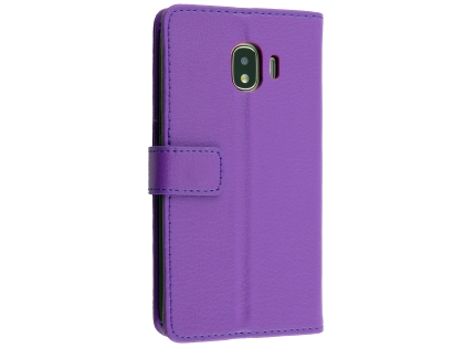 Synthetic Leather Wallet Case with Stand for Samsung Galaxy J2 Pro (2018) - Purple Leather Wallet Case