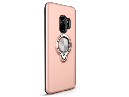 Impact Case With Ring Holder for S9 - Rose Gold Impact Case