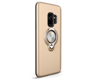 Impact Case With Ring Holder for S9 - Gold Impact Case