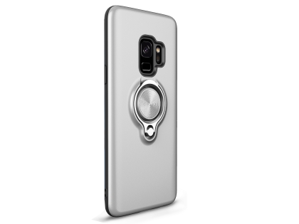 Impact Case With Ring Holder for S9 - Silver Impact Case