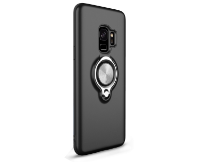 Impact Case With Ring Holder for S9 - Black Impact Case