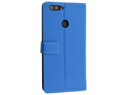 Synthetic Leather Wallet Case with Stand for Oppo R11s Plus - Blue Leather Wallet Case