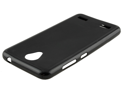 Frosted TPU Gel Case for Telstra 4GX Enhanced - Classic Black Soft Cover