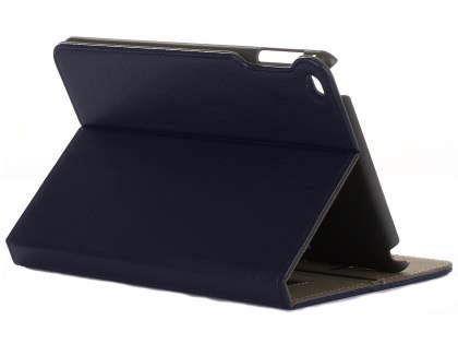 Synthetic Leather Case with Stand for iPad Mini 4 - Navy Leather Flip Case