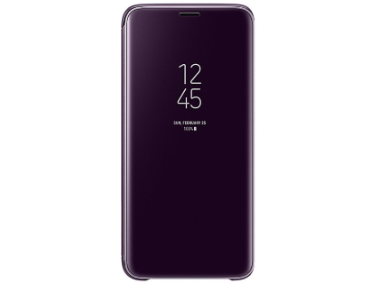 Genuine Samsung Galaxy S9 Clear View Standing Cover - Violet S View Cover