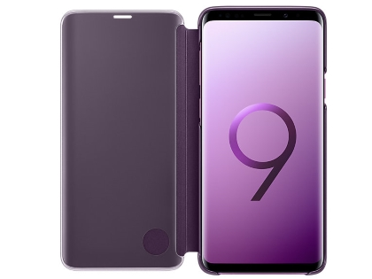 Genuine Samsung Galaxy S9 Clear View Standing Cover - Violet