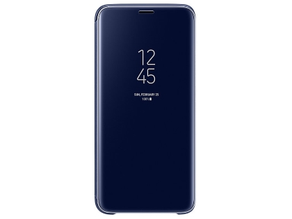 Genuine Samsung Galaxy S9 Clear View Standing Cover - Blue S View Cover