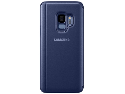 Genuine Samsung Galaxy S9 Clear View Standing Cover - Blue