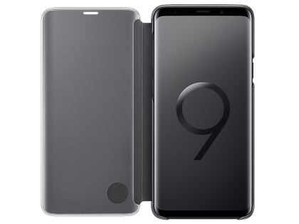 Genuine Samsung Galaxy S9 Clear View Standing Cover - Black