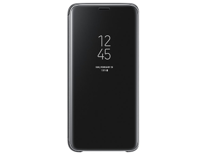Genuine Samsung Galaxy S9+ Clear View Standing Cover - Black S View Cover