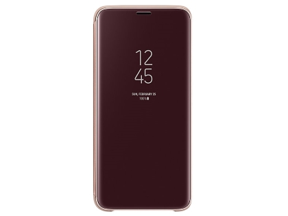 Genuine Samsung Galaxy S9 Clear View Standing Cover - Gold S View Cover
