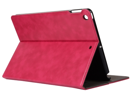 Synthetic Leather Case with Stand for iPad Mini 1/2/3 - Pink Leather Flip Case