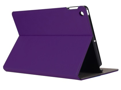 Synthetic Leather Case with Stand for iPad Mini 1/2/3 - Purple Leather Flip Case