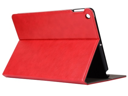 Synthetic Leather Case with Stand for iPad Mini 1/2/3 - Red Leather Flip Case