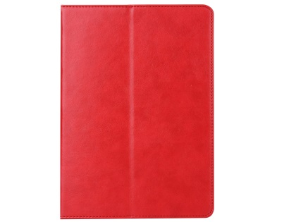 Synthetic Leather Case with Stand for iPad Mini 1/2/3 - Red