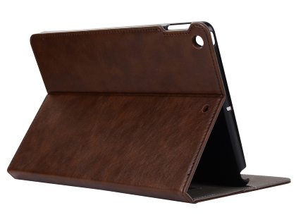 Synthetic Leather Case with Stand for iPad Mini 1/2/3 - Brown
