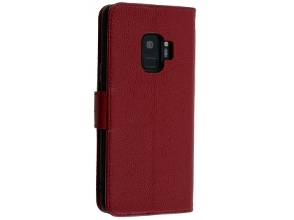 Premium Leather Wallet Case for Samsung Galaxy S9 - Rosewood Leather Wallet Case