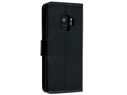Premium Leather Wallet Case for Samsung Galaxy S9 - Black Leather Wallet Case