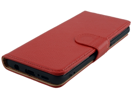 Premium Leather Wallet Case for Samsung Galaxy S9+ - Red