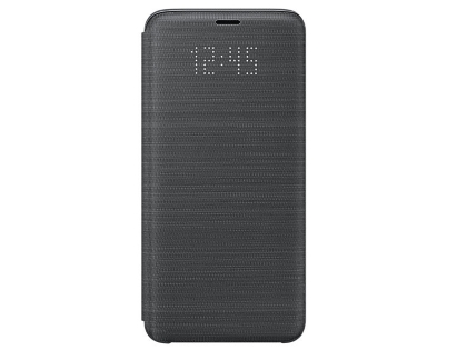 Genuine Samsung Galaxy S9 LED View Cover - Black S View Cover